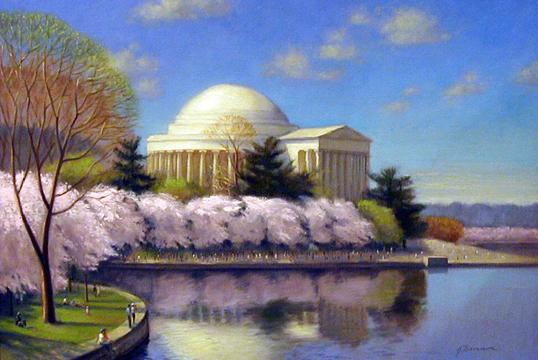 bannon jefferson memorial cherry blossoms