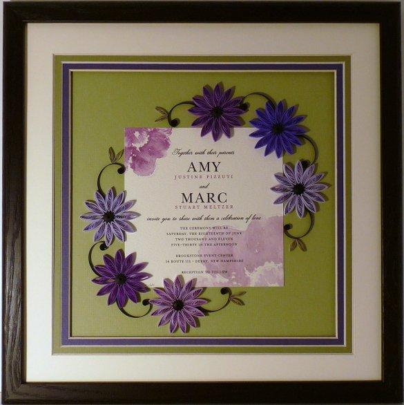 quilled wedding invitation keepsake framed wall ar udu4ns0xnzi5ms43mtmyoq1