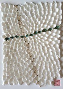 Hiromi Ashlin - Juji (Cross), Origami Mixed Media, 14x10, $720 framed
