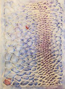 Hiromi Ashlin Issho 14 x10 Origami on Panel