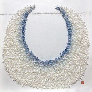 Hiromi Ashlin Sekai World 27x27 Origami on Panel