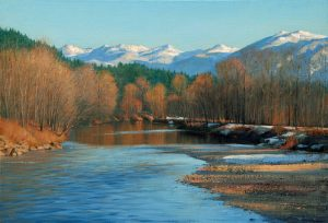 Bradley Stevens - Snoqualmie Solitude, 22x32, Oil on Linen