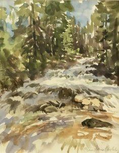 Christine Lashley Cascade Fox Creek 12x9 Watercolor on Paper