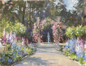Christine Lashley In the Garden 14x18 Oil on Panel