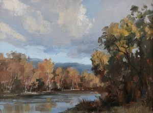 Christine Lashley Looking South 9x12 Oil on Canvas