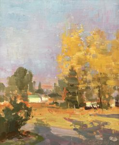 Christine Lashley Morning from the Porch 8x10 Oil on Canvas