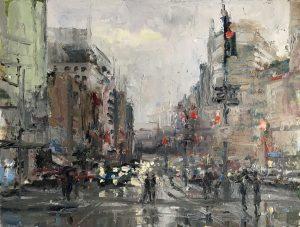Christine Lashley Near Dupont Circle 16x12 Oil on Canvas