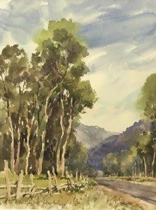 Christine Lashley Near Last Dollar Road 12x9 Watercolor on Paper
