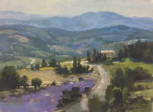 Christine Lashley Provence Layers 9x12 Oil on Canvas