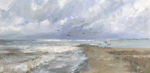 Christine Lashley Silver Shores 8x16 Oil on Canvas