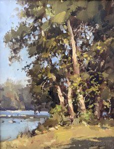 Christine Lashley Suddenly Summer 10x8 Oil on Canvas