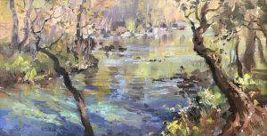 Christine Lashley Water Source 8x16 Oil on Panel 1300