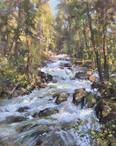 Christine Lashley Western Stream 18x14 Oil on Canvas