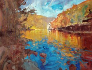 Ken Strong, Autumn West Virginia, 36X28, Oil on canvas
