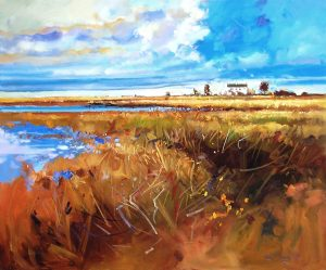 Ken Strong, Chesapeake Bay Foreshore, 36X30, Oil on canvas