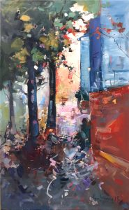 Ken Strong, Georgetown DC, 21x35.5, Oil on canvas