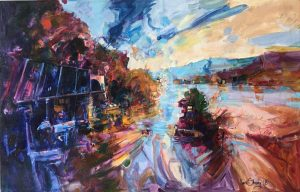 Ken Strong, Return to Harpers Ferry, 48x31, Oil on canvas