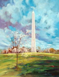 Ken Strong, The Cherry Blossom in Grand Company, 28X36, Oil on canvas