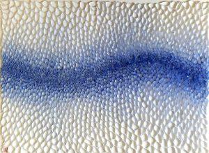 Hiromi Ashlin - Blue and White, Origami on Panel, 40x30, $6500 framed