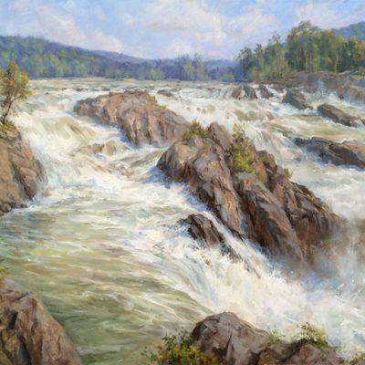 Christine Lashley, Great Falls, 24x36, oil on canvas
