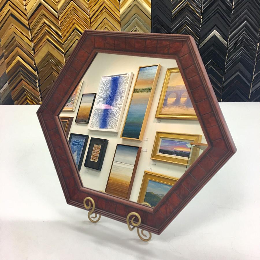 Custom Hexagon Mirror