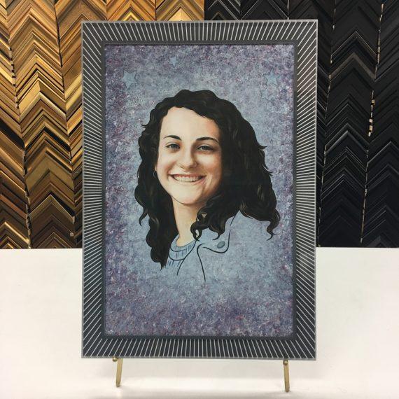 Custom Prisma Frame on Original Portrait
