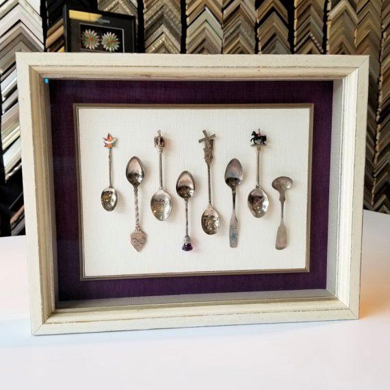 Shadowbox Framing of Silver Spoons