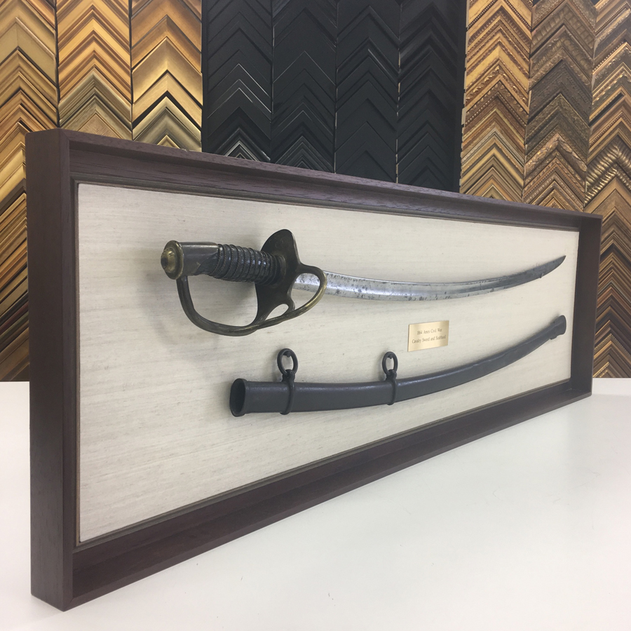 Custom Framing of Sword and Scabbard