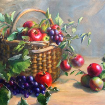 Tricia Ratliff Grow Family Memories for Future Generations to harvest 20x24 Oil