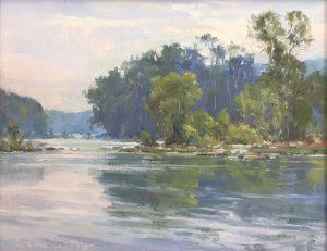 Christine Lashley - Blue Distance, 11x14, Oil on Panel