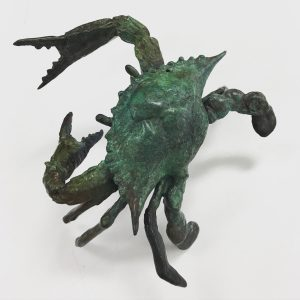 Dan Chen - Blue Crab, 4.5x4.5x2.5, Bronze Sculpture