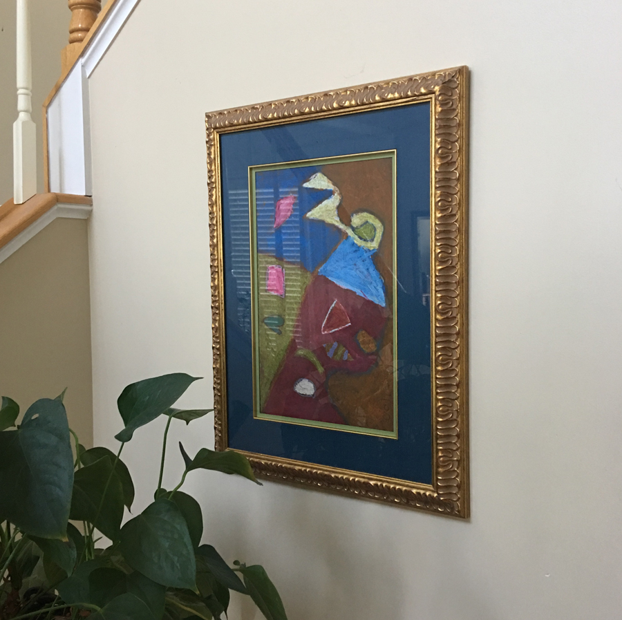 Framed Child's Art, 1st Grader