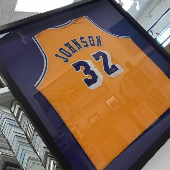 Shadowbox Framed Signed Basketball Jersey