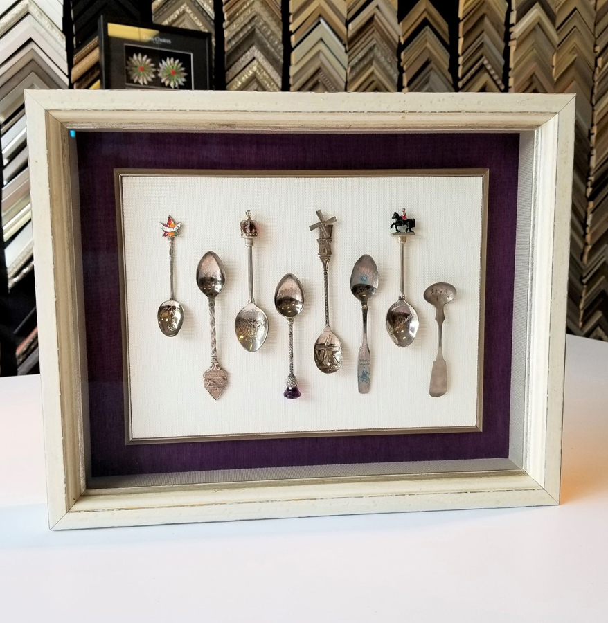 Shadowbox Framing of Silver Spoons