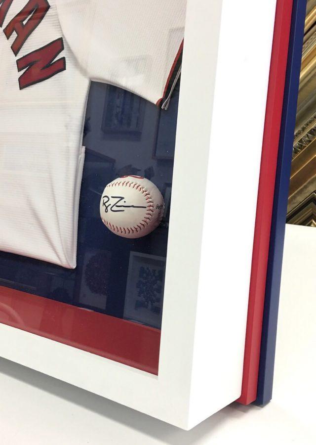 Washington Nationals Baseball - Shadowbox Framing of Signed Zimmerman Jersey