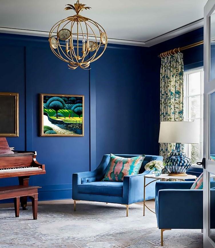 mid century modern classic blue