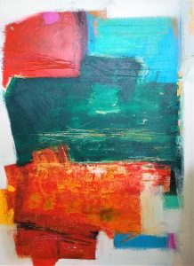 Buck Nelligan Untitled Abstract 4 Acrylic on Canvas 36 x 48 2000