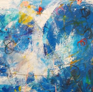 Buck Nelligan Untitled Abstract 6 Acrylic on Canvas 24 x 24 900