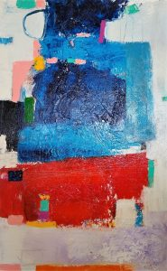 Buck Nelligan Untitled Abstract 7 Acrylic on Canvas 30 x 48 1600