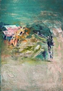 Courtney Kolker Mezzo 60x40 Acrylic on Canvas